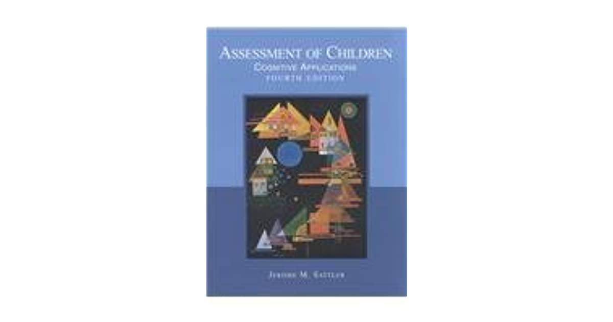 assessment of children cognitive applications sattler