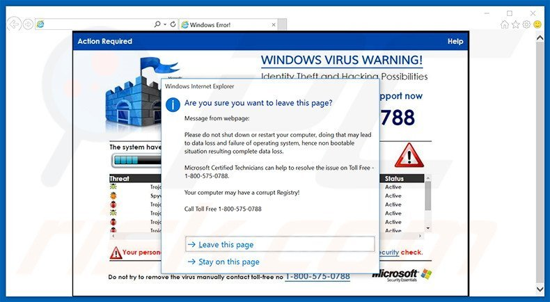 iexplore.exe application error virus