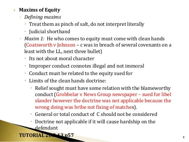 equitable application of rules and boundaries