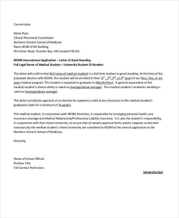 application for good standing certificate sample