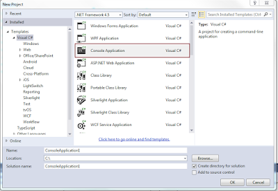 how to run visual studio console application