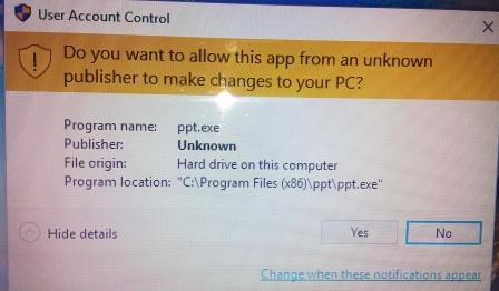 how to cancel a uac application