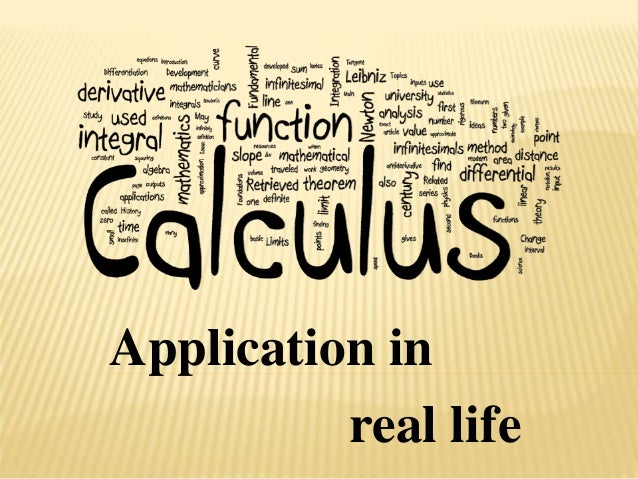 applications of calculus to real life scenrios