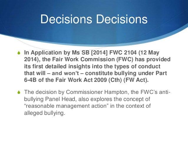 application by ms sb 2014 fwc 2104
