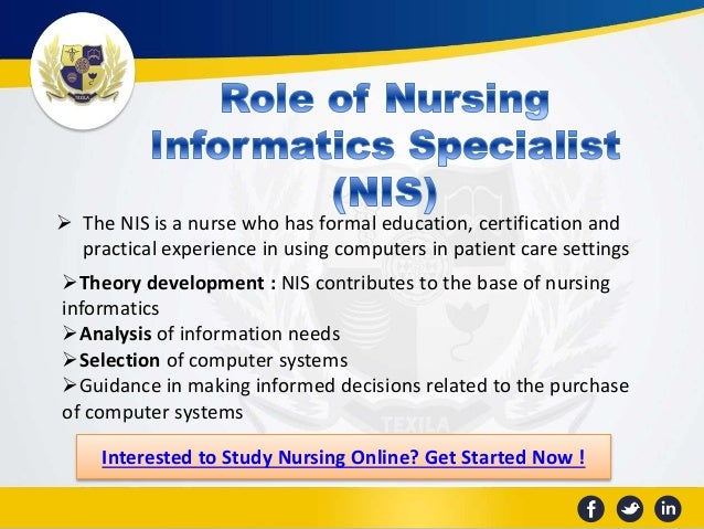 nursing informatics theory and application