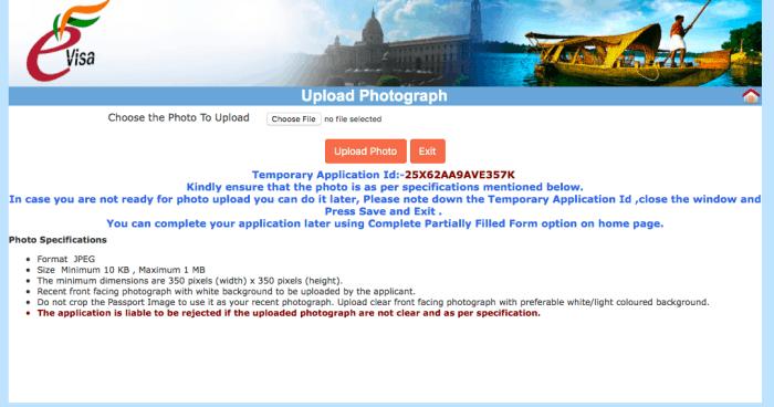 upload image online nri passport application