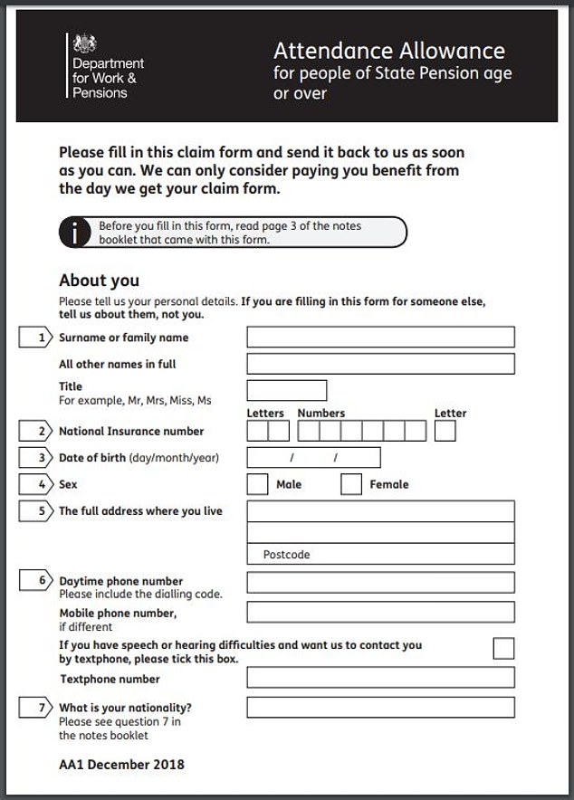 disability and carers service application form