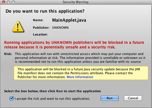 java do you want to run this applications