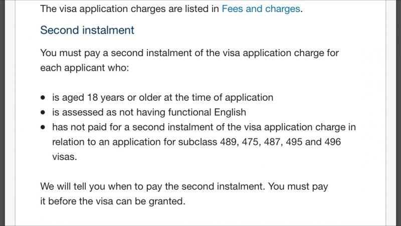 secondary applicant 457 visa immi