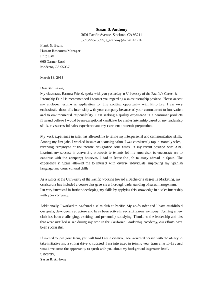 example of application letter for sales representative