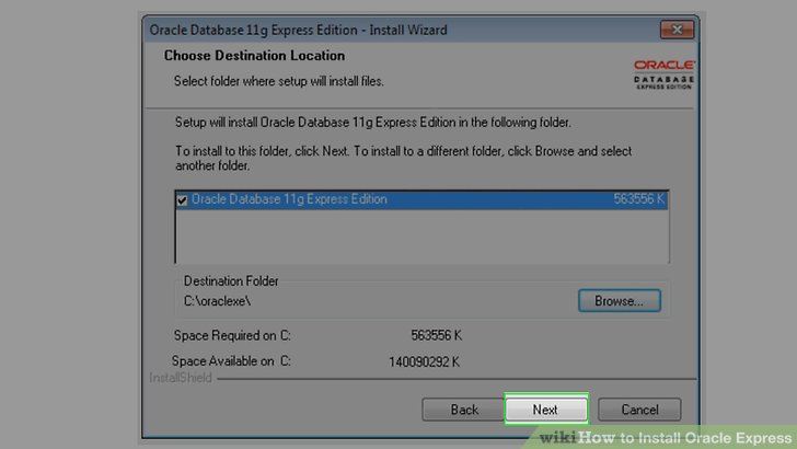 how to install oracle application express