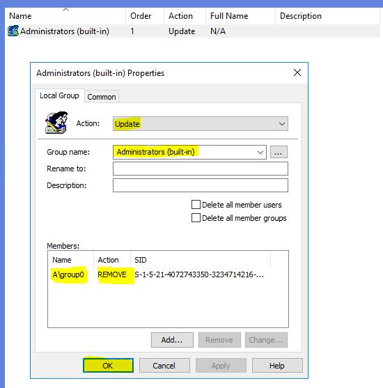 window server application user or domain admin