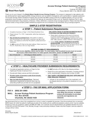 bristol myers squibb patient assistance program application