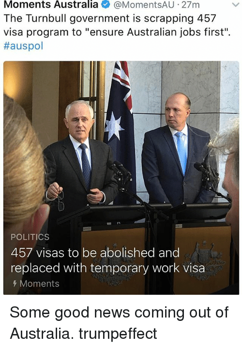 australia temporary work visa application