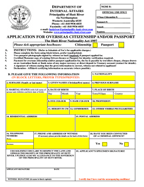 citizenship application form for australian