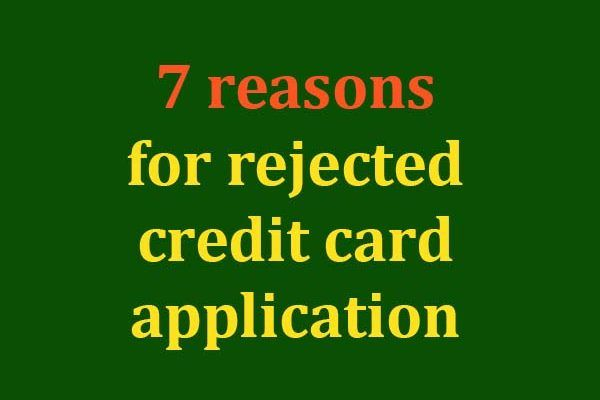 credit card application declined what now