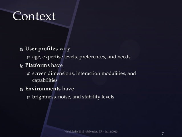 design guidelines for context-aware mobile applications