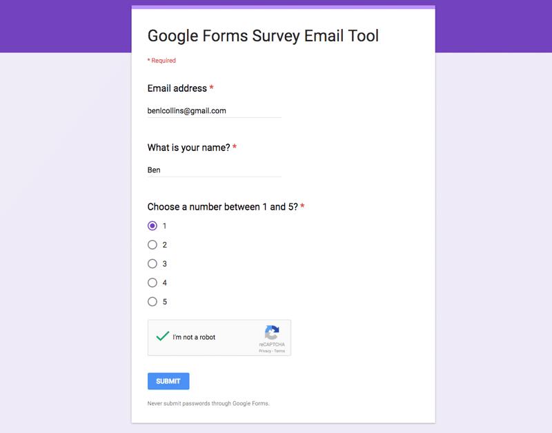 google docs how to make a application form