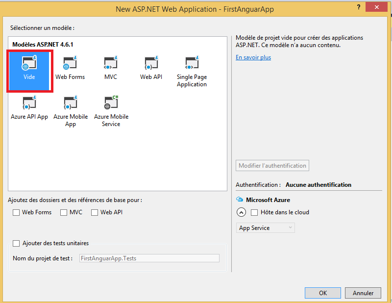 how to create angularjs application in visual studio 2012