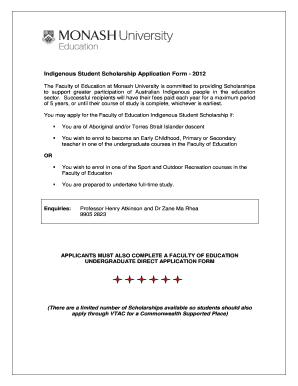 https www monash online application form