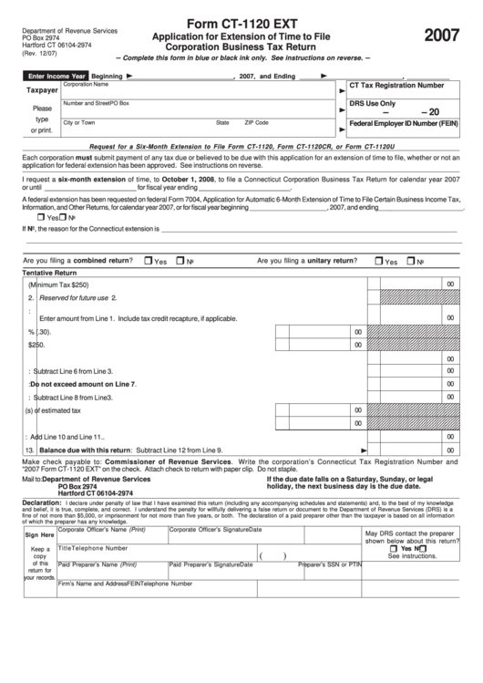 short extension of time application form