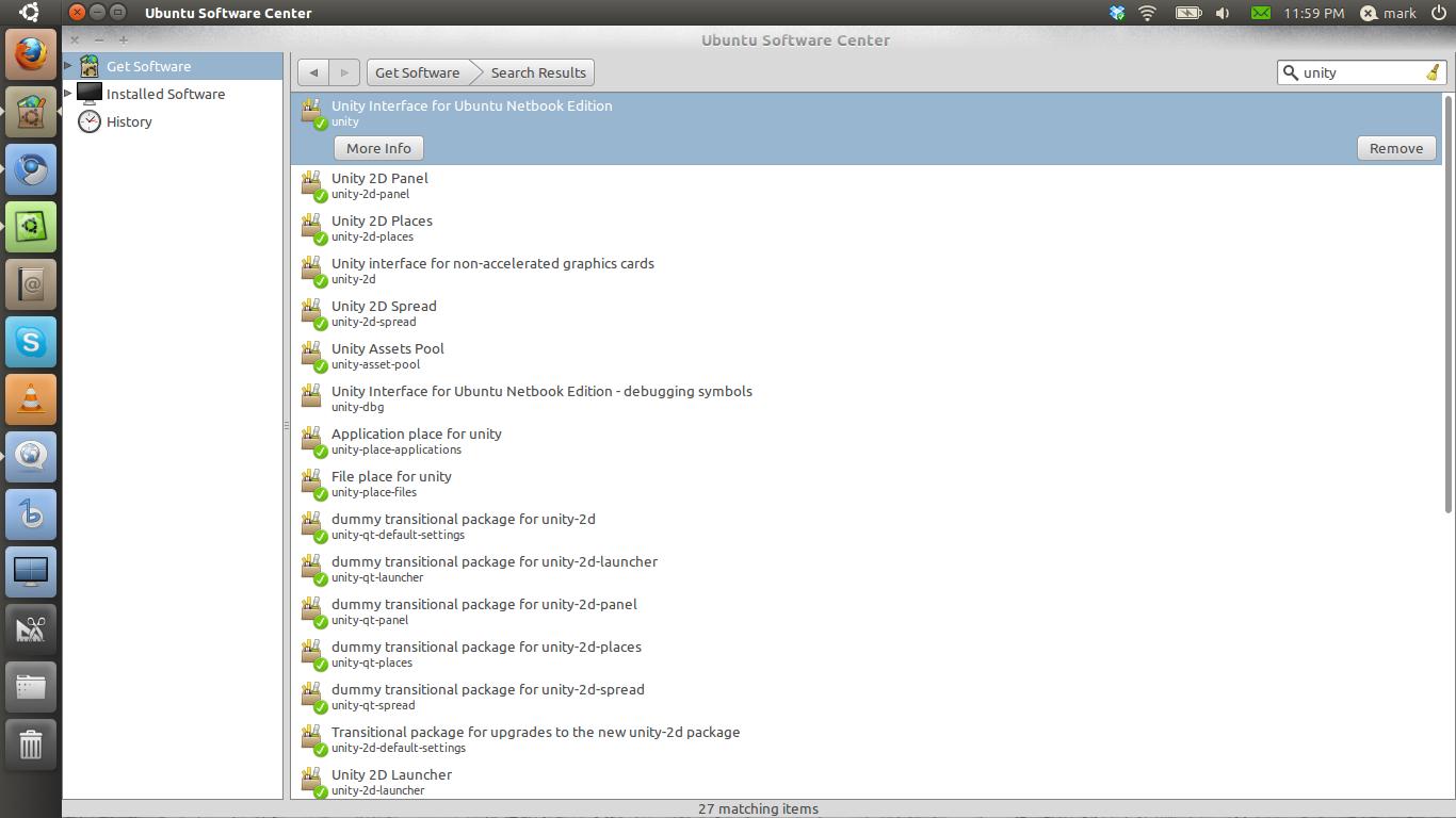 uninstalling an application in ubuntu
